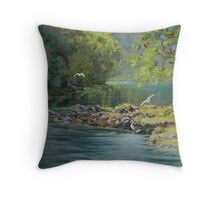 Morning Gathering Throw Pillow