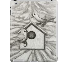 Tufted Tit Mice With Bird House iPad Case/Skin
