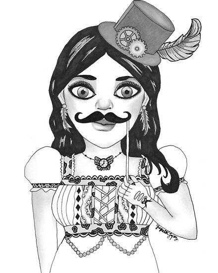 Steampunk Babe by lizglopezart