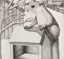 Winter Squirrel by jkartlife