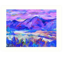 Blue Mountain Memory Art Print