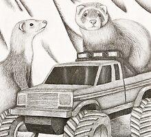 Ferret Still Life by jkartlife