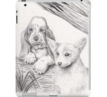 Basset Hound And Welsh Corgi iPad Case/Skin