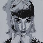 Audrey- Audrey Hepburn painting by kreativekate