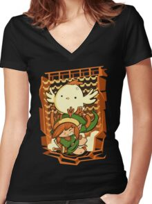 Chicken Wings Women's Fitted V-Neck T-Shirt