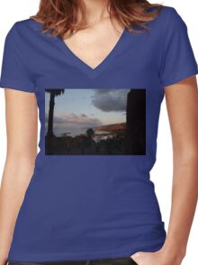 Tropea At Dusk Women's Fitted V-Neck T-Shirt