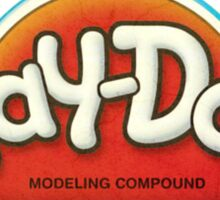 Vintage Play-Doh logo Sticker