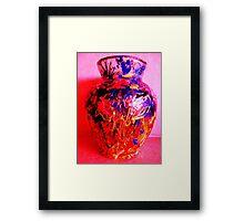Red Vase with Grafitti Framed Print