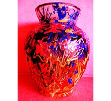 Red Vase with Grafitti Photographic Print