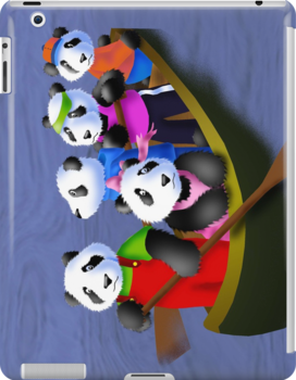 Pandas in Boat by jkartlife