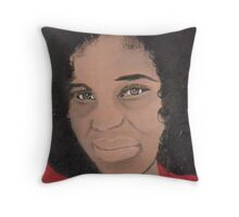 African Woman Acrylic painting Throw Pillow