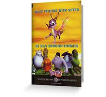 Make Friends With Spyro Greeting Card