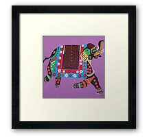 Painted elephant painting Framed Print