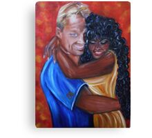 Spicy - Interracial Lovers Series Canvas Print