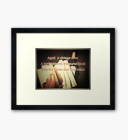 Aged (Haiku and Art Illustration) Framed Print