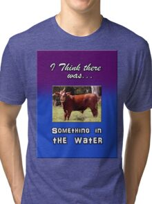 SOMETHING IN THE WATER Tri-blend T-Shirt