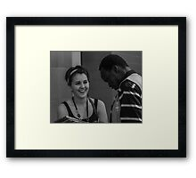 happy to chat #2 Framed Print