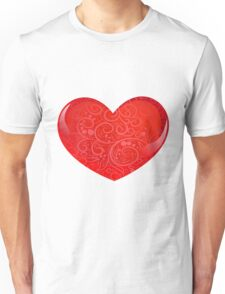 heart with ornate Unisex T-Shirt