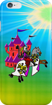 Knight & Castle iPhone case by Dennis Melling