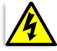 Electrical Warning Symbol Canvas Print