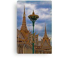 Cambodia. Phnom Pehn. Royal Palace. The throne hall. Detail. Canvas Print