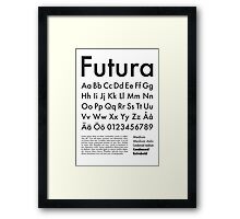 Typography Poster Futura Alphabet Framed Print