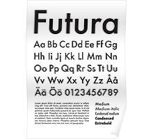 Typography Poster Futura Alphabet Poster