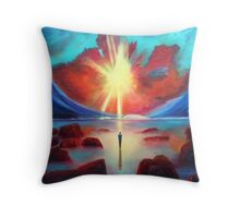 Sun And Solitude Painting Throw Pillow