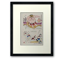 Humorous pictures depicting the Chinese 002 Framed Print