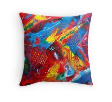 Fiesta Time Abstract Painting Throw Pillow