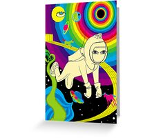 Floating In Space Greeting Card
