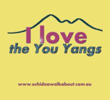 I love the You Yangs - light background Kids Clothes