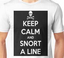 Keep Calm and Snort a line Unisex T-Shirt