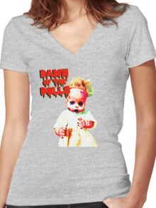 Dawn of the Dolls - Charlotte Women's Fitted V-Neck T-Shirt
