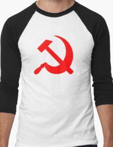 Hammer and Sickle - Communist Symbol  Men's Baseball ¾ T-Shirt