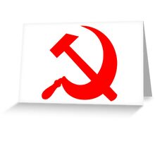 Hammer and Sickle - Communist Symbol  Greeting Card