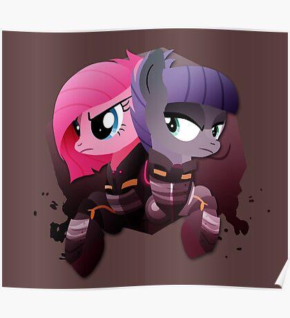 Warrior Pinkie Pie and Maud Pie Poster