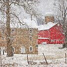 Februaury Snow At Warne's Mill by Pat Abbott