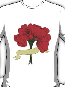 hand drawing bouquet of poppies T-Shirt