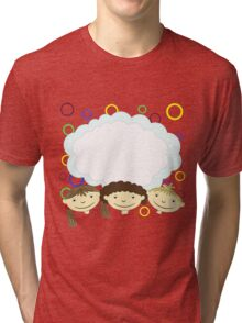 hand drawing children with banner Tri-blend T-Shirt