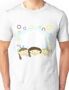 hand drawing children with banner Unisex T-Shirt