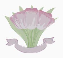hand drawing tulips Kids Tee
