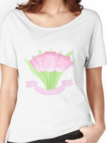 hand drawing tulips Women's Relaxed Fit T-Shirt