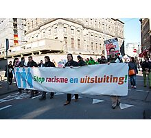 Demonstration against racism and exclusion - Amsterdam Photographic Print