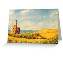 Wheal Friendly engine house Greeting Card