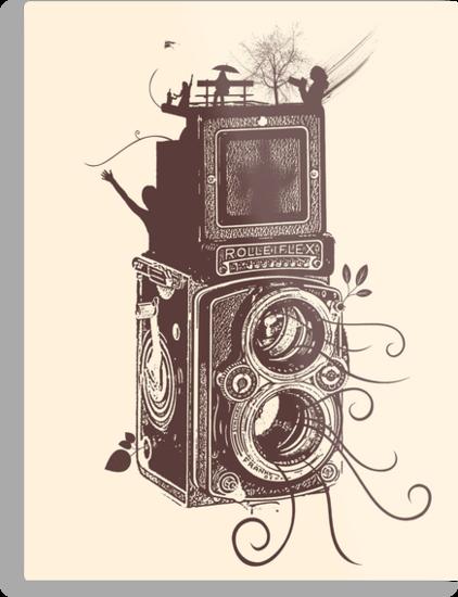 Retro Rolleiflex - Evolution of Photography - Vintage #2 by Denis Marsili - DDTK