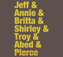 Community Jeff & Annie & Britta & Shirley & Troy & Abed & Pierce Shirt Kids Clothes
