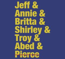 Community Jeff & Annie & Britta & Shirley & Troy & Abed & Pierce Shirt by jbrookeiv