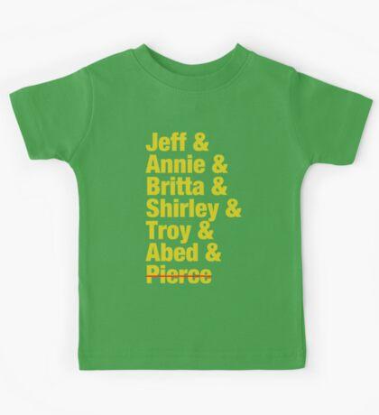 Community Jeff & Annie & Britta & Shirley & Troy & Abed & Pierce Shirt Kids Tee