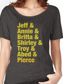 Community Jeff & Annie & Britta & Shirley & Troy & Abed & Pierce Shirt Women's Relaxed Fit T-Shirt
